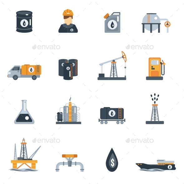 GraphicRiver Oil Industry Flat Icon 11087657