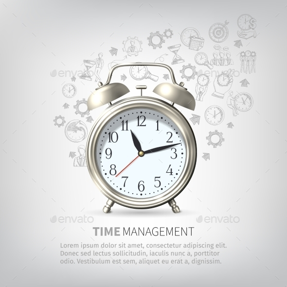 GraphicRiver Time Management Poster 11087689
