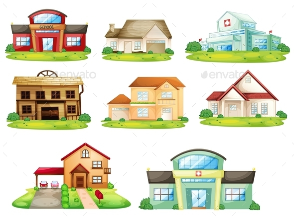 GraphicRiver Houses and Other Building 11087692