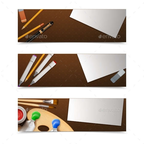 GraphicRiver Drawing Banners Horizontal 11087693