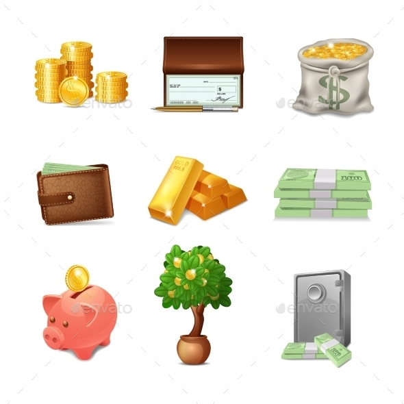 GraphicRiver Financial Icons Set 11087700