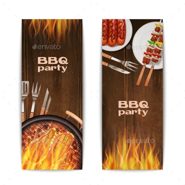GraphicRiver Bbq Grill Banners 11087710
