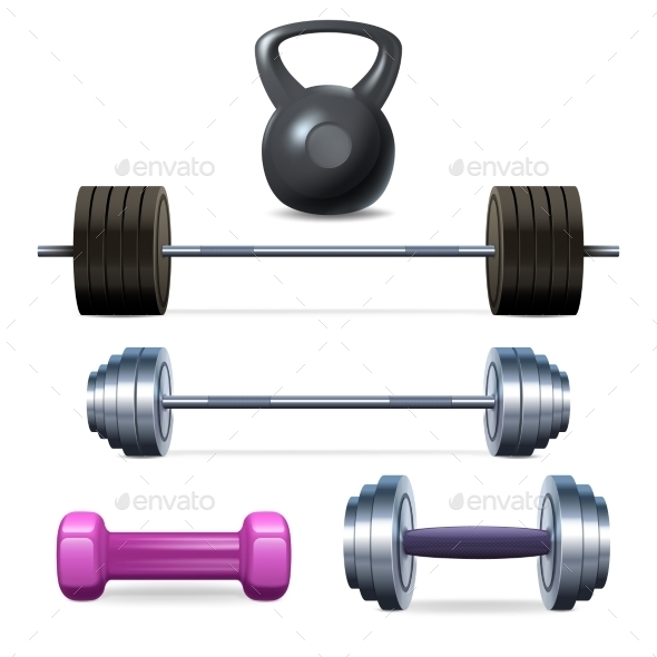 GraphicRiver Dumbbells Barbells And Weight 11087734