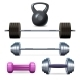 Dumbbells Barbells And Weight - GraphicRiver Item for Sale