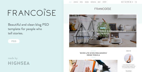 ThemeForest Francoise Blog PSD Template 11087769