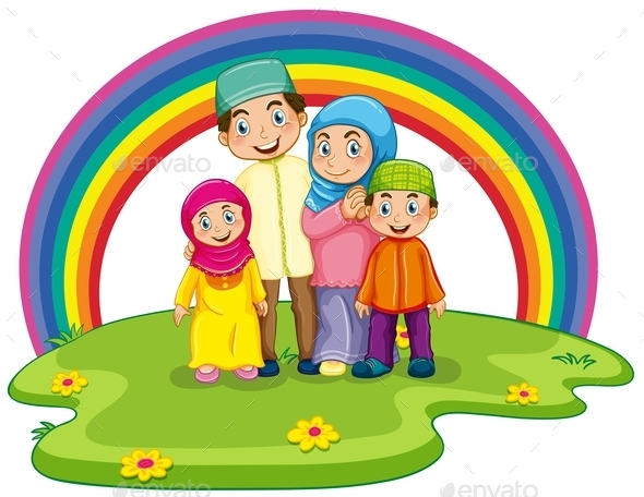 GraphicRiver Muslim Family 11087811