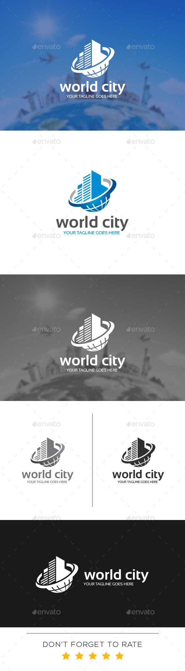 GraphicRiver World City Logo Template 10998276