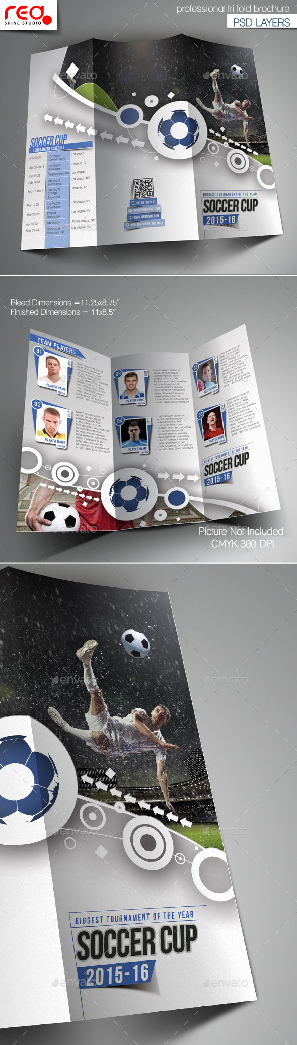 GraphicRiver Football Tournament Trifold Brochure Template 11087824