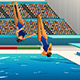 Diving Competition - GraphicRiver Item for Sale