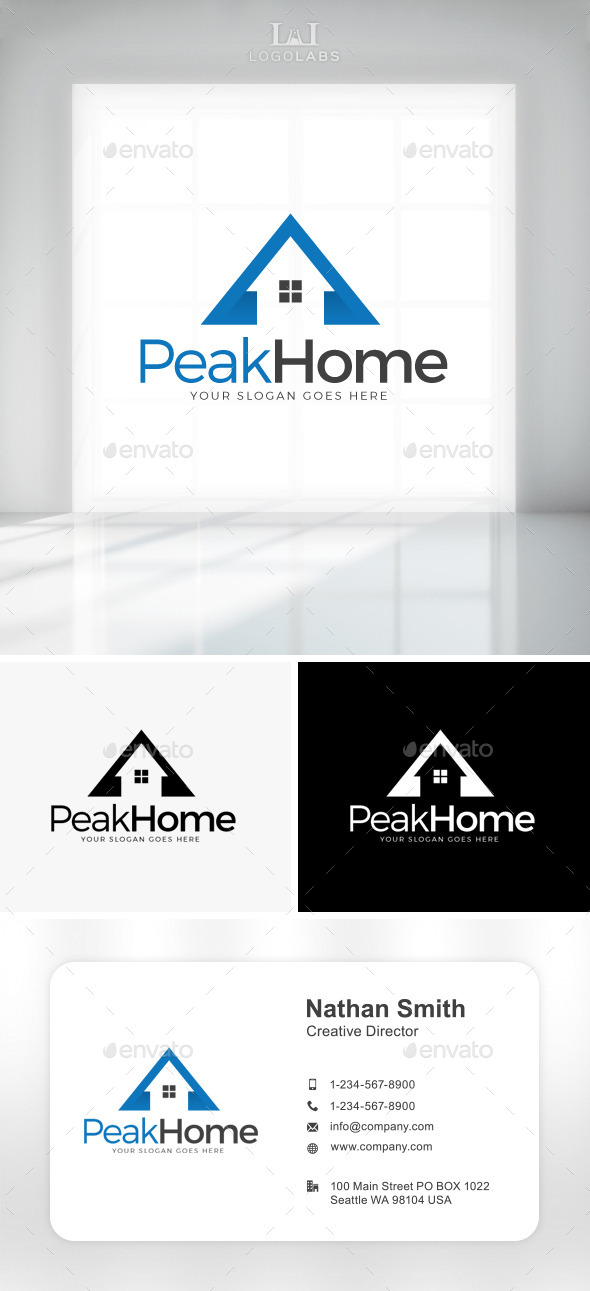 GraphicRiver Peak Home Logo 11087841