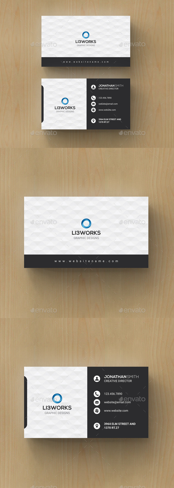 GraphicRiver Modern Corporate Business Card 11087852