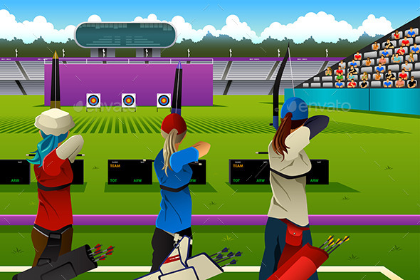 GraphicRiver Archers in the Archery Competition 11087882