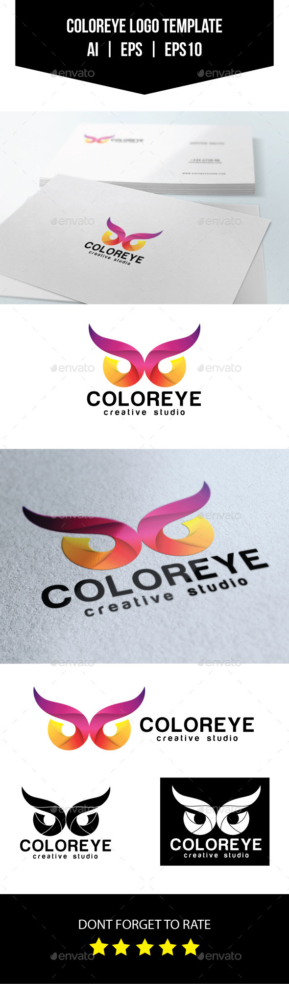 GraphicRiver Color Eye Owl Logo Template 11087886