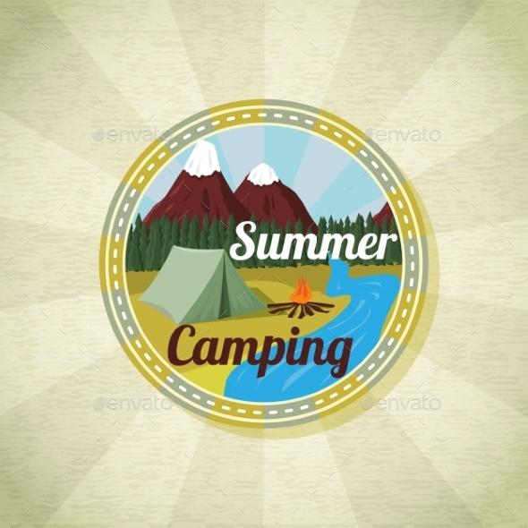 GraphicRiver Camping Landscape 11087955