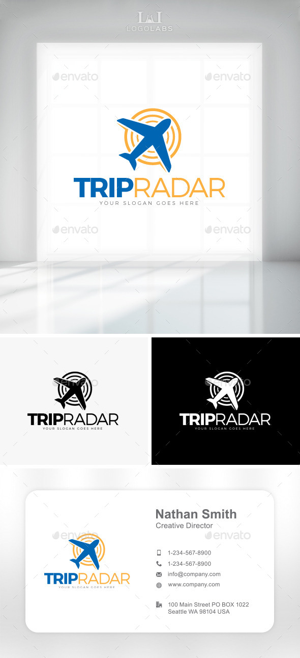 GraphicRiver Trip Radar Logo 11087993