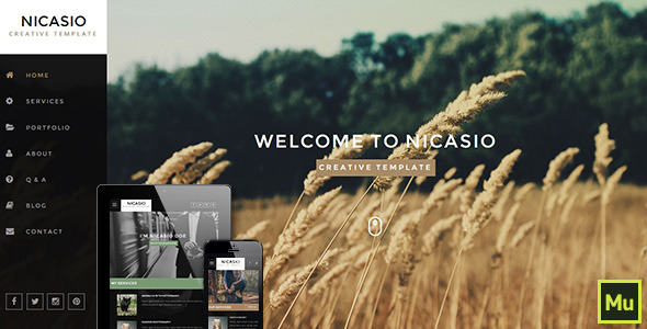 ThemeForest Nicasio Creative Muse Template 11088053