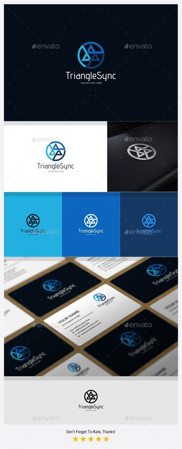 GraphicRiver Triangle Sync Logo 11088327