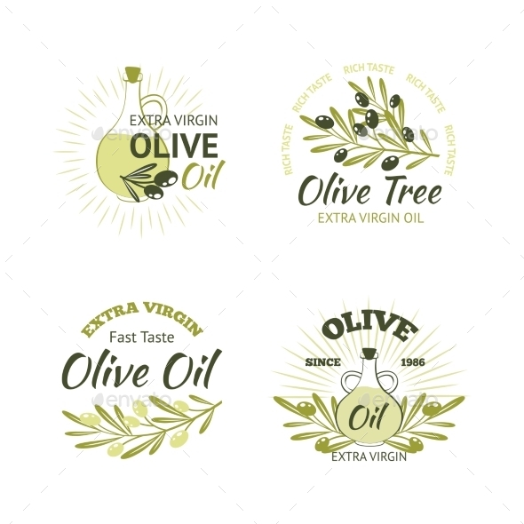 GraphicRiver Olive Emblems Set 11088386