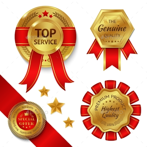 GraphicRiver Award Ribbons Set 11088392