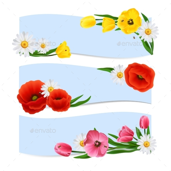 GraphicRiver Floral Banners Horizontal 11088395