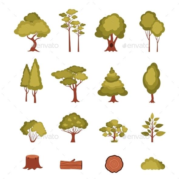 GraphicRiver Forest Elements Set 11088431