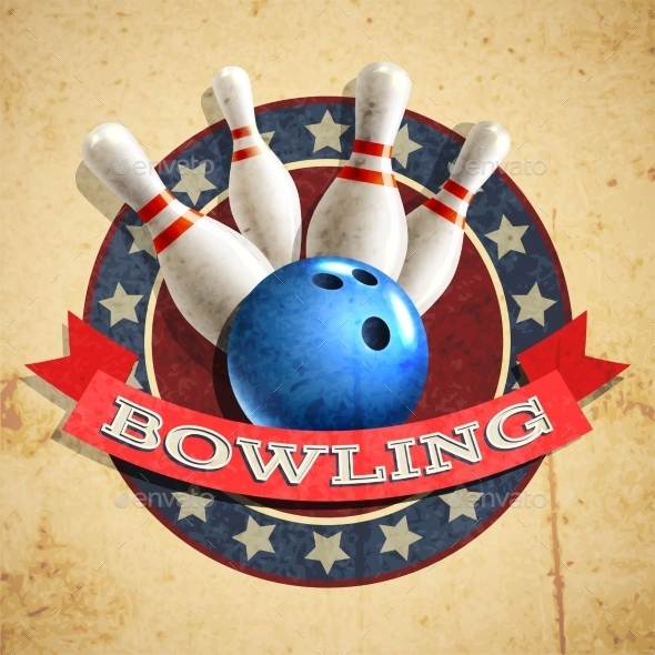 GraphicRiver Bowling Emblem Background 11088512