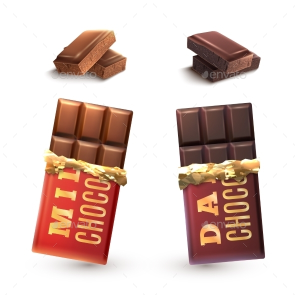 GraphicRiver Chocolate Bars Set 11088520