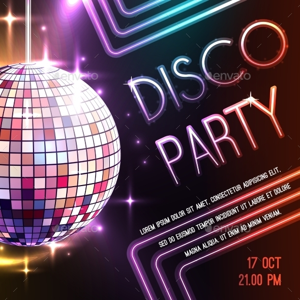 GraphicRiver Disco Party Poster 11088533