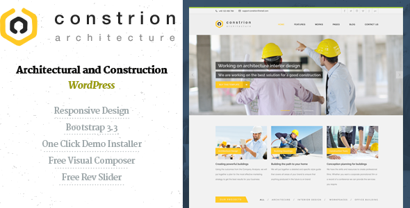ThemeForest Constrion Construction and Builder WP Theme 11088552