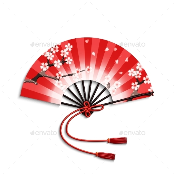 GraphicRiver Japanese Folding Fan 11088554