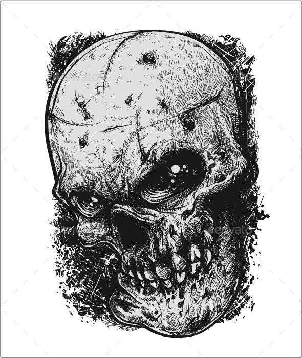 GraphicRiver Sketchy Skull 11088563