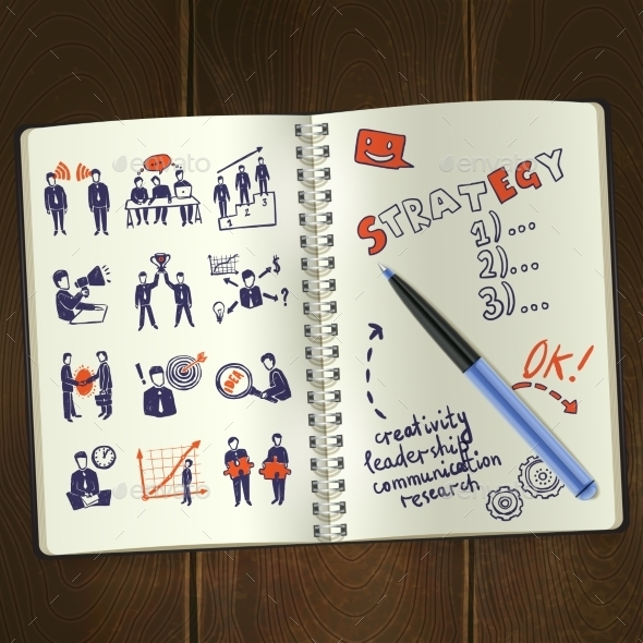 GraphicRiver Meeting Sketch Notepad 11088580