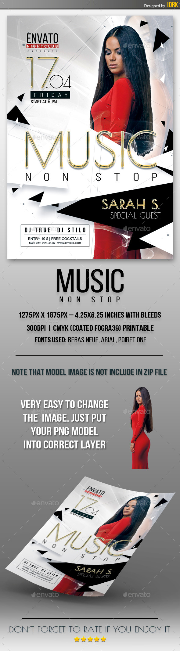 GraphicRiver Music Non Stop Flyer 11088839