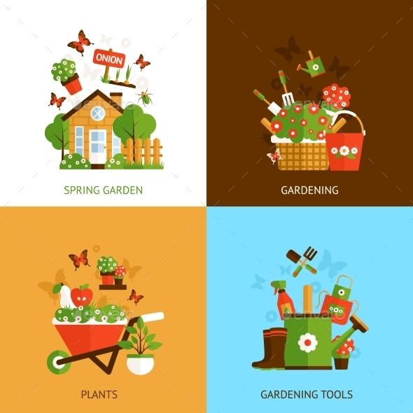 GraphicRiver Gardening Design Concept 11088841