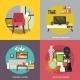 Living Room Furniture Set - GraphicRiver Item for Sale