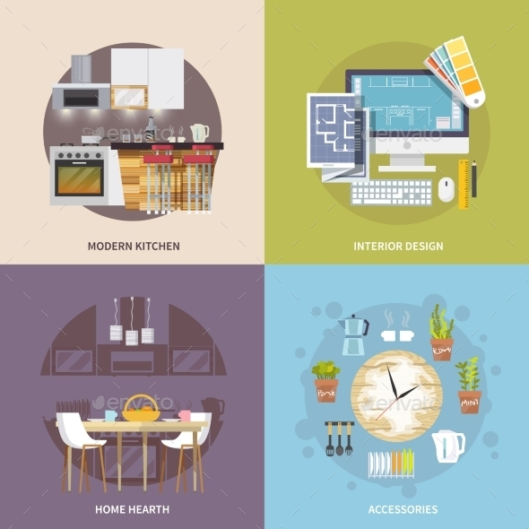 GraphicRiver Kitchen Furniture Set 11088882