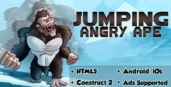 CodeCanyon Jumping Angry Ape HTML5 Android CAPX 11088883