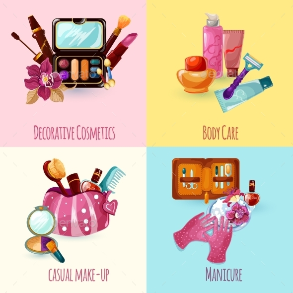 GraphicRiver Cosmetics Icons Set 11088905