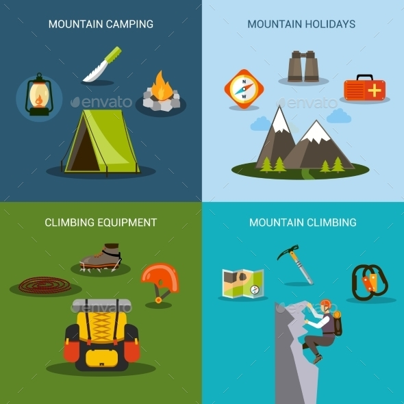 GraphicRiver Climbing Icons Set 11088914