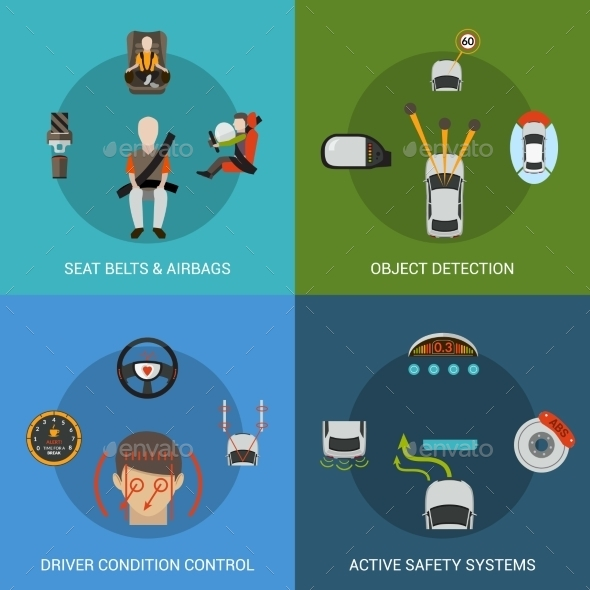 GraphicRiver Car Safety System Set 11088926