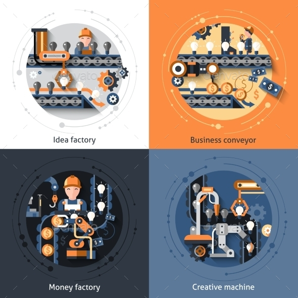GraphicRiver Business Conveyor Set 11088959