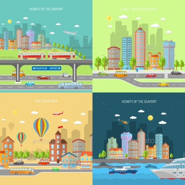 GraphicRiver City Transpot Design Concept Set 11088974