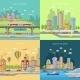 City Transpot Design Concept Set - GraphicRiver Item for Sale