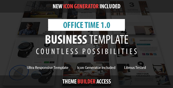 ThemeForest Office Time Responsive Email & Builder Access 11089071