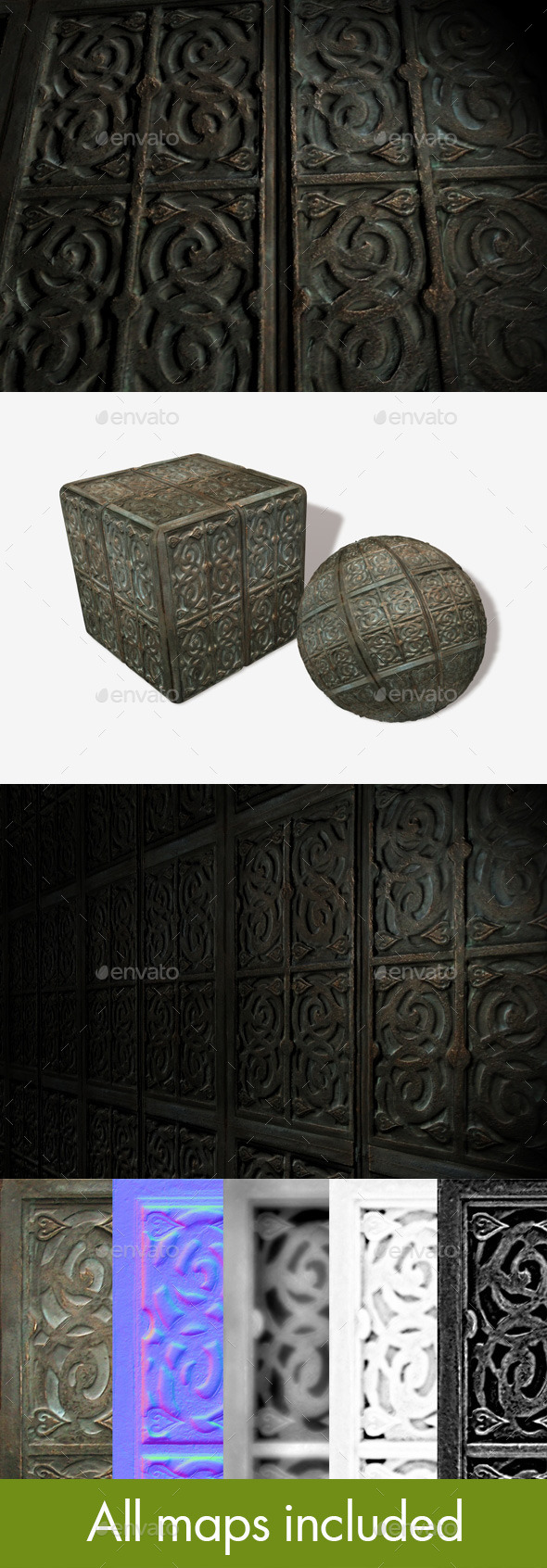 3DOcean Antique Box Seamless Texture 11089403