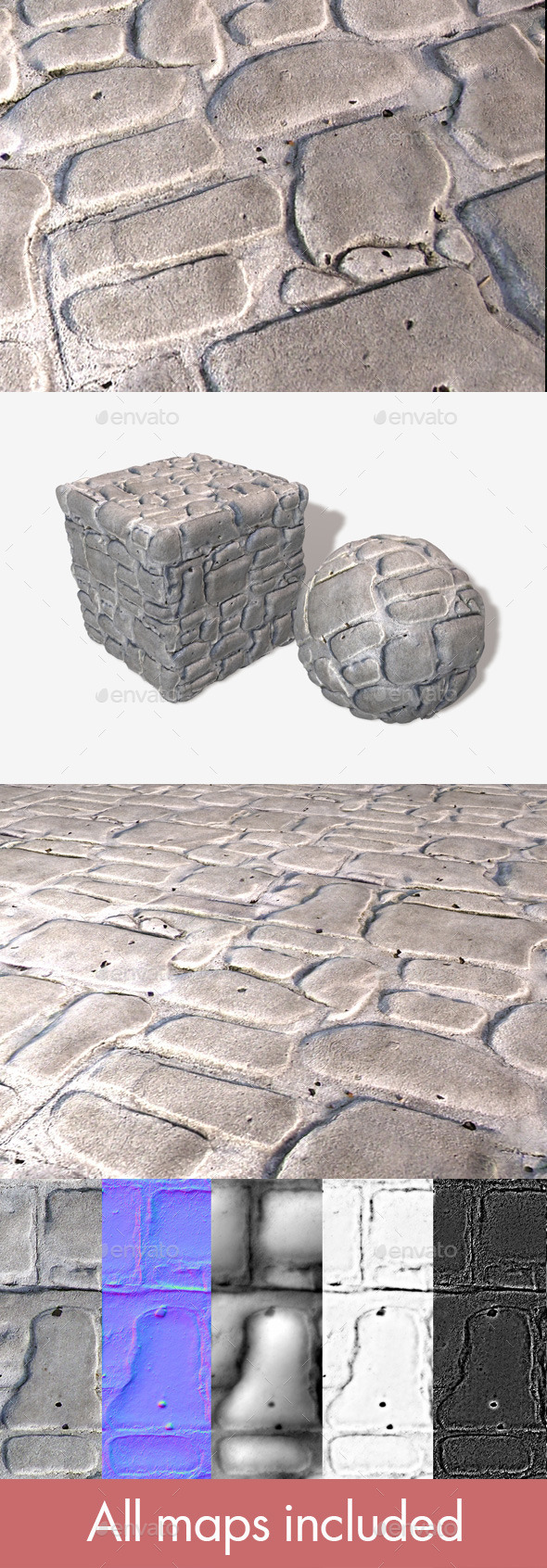 Cobblestone Bricks Seamless Texture