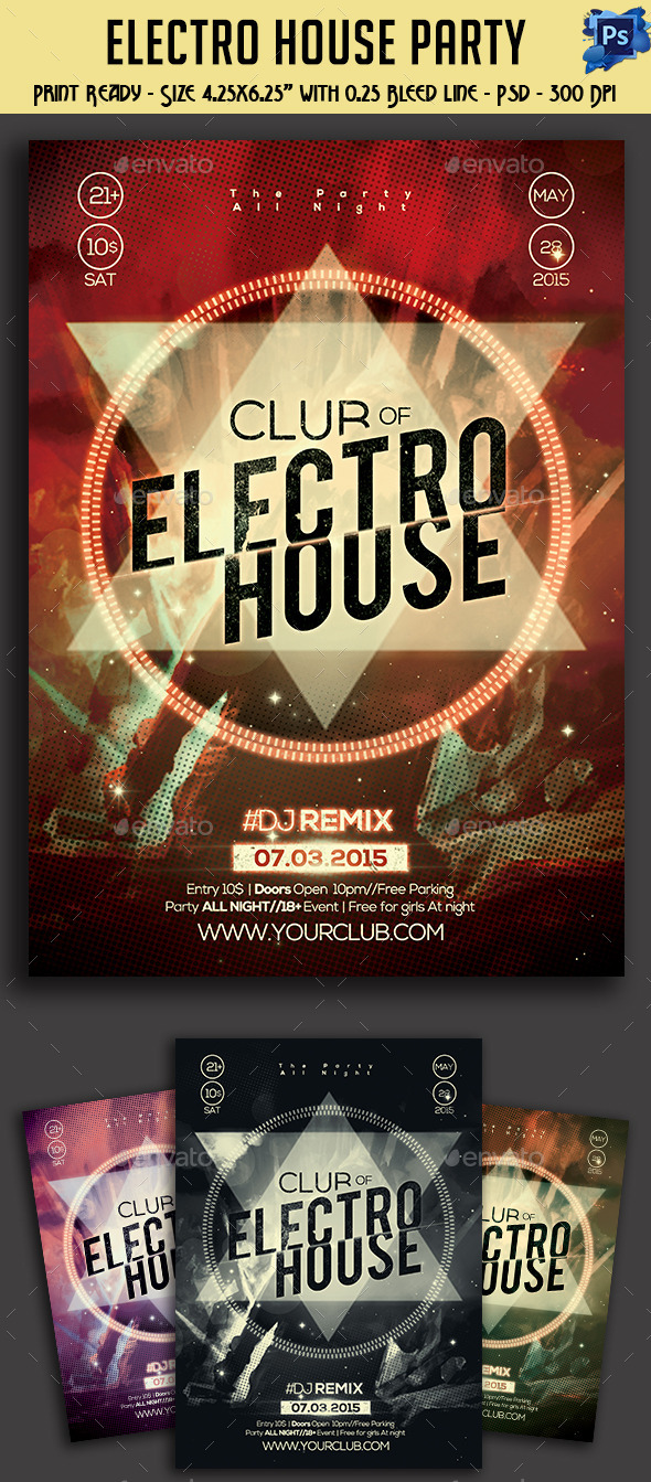 GraphicRiver Electro House Party Flyer 11089654