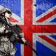 soldier on England flag background - PhotoDune Item for Sale