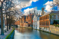 Belfort and the Green canal in Bruges, Belgium - PhotoDune Item for Sale