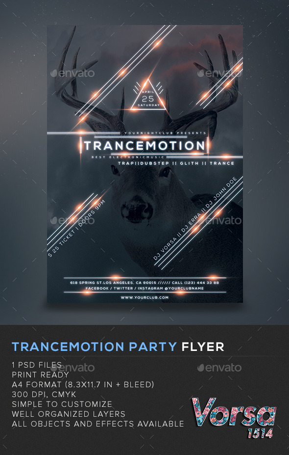 GraphicRiver Trancemotion Party Flyer 11089786